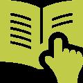 Ein Finger zeigt auf ein Buch